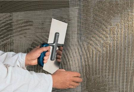 Фиксация армирующей сетки на стену