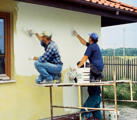 Штукатурка стен дома