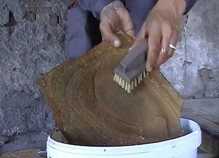 Чистка природного камня