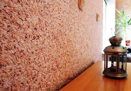Покрытие флоками стены