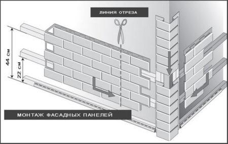 Монтаж виниловых панелей от угла