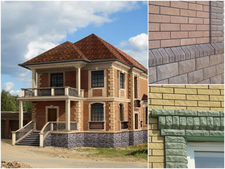 Облицовка фасада дома с утеплением