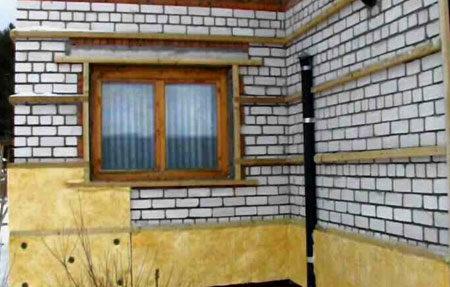 Горизонтальная обрешетка на фасаде