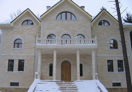 Облицовка дома известнякомф