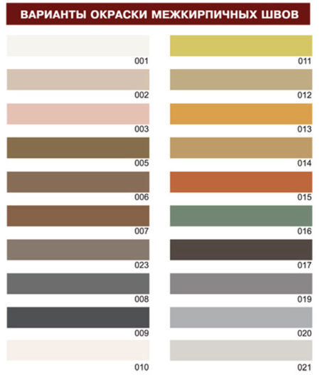 Цветовое разнообразие плитки