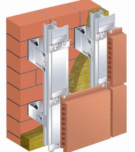 Крепление фасадной панели на кляммеры