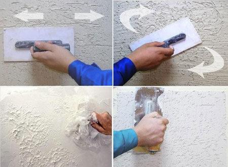 Техника штукатурки стен