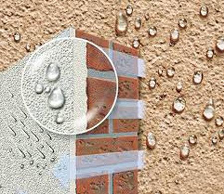 Водоотталкивающие свойства силикатной штукатурки