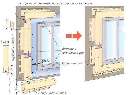 Монтаж сайдинга у окна