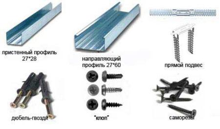 Профиль и крепежные элементы