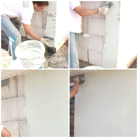 Штукатурка стен фасада