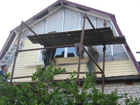 Монтаж сайдинга на фронтон
