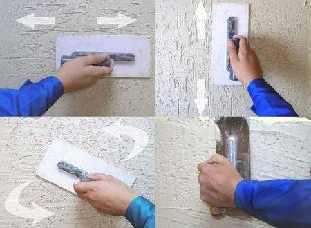 Нанесение рисунка на штукатурку
