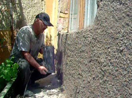 Компрессор для оштукатуривания стен