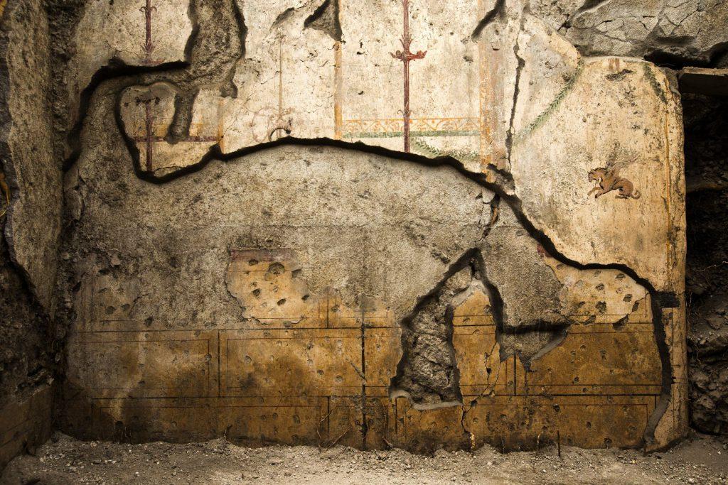 Фрагмент сохранившейся фрески из Помпеи
